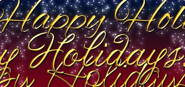 New Design Set Collection – Happy Holidays ' Gold Lettering