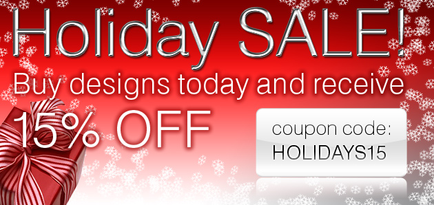 Holiday Sale – 15% OFF